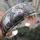 Beauty Hot New Tibetan Tibet silver White Tiger Totem Bangle Cuff Bracelet