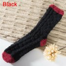 Extremely Cozy Cashmere Socks Women's Winter Warm Sleep Bed Floor Home Fluffy - Black