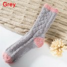 Extremely Cozy Cashmere Socks Women's Winter Warm Sleep Bed Floor Home Fluffy - Gray
