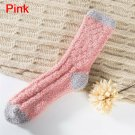 Extremely Cozy Cashmere Socks Women's Winter Warm Sleep Bed Floor Home Fluffy - Pink