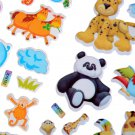 Cartoon Animals Zoo 3D Stickers Childrens Girls Boys PVC Stickers Kids Toy