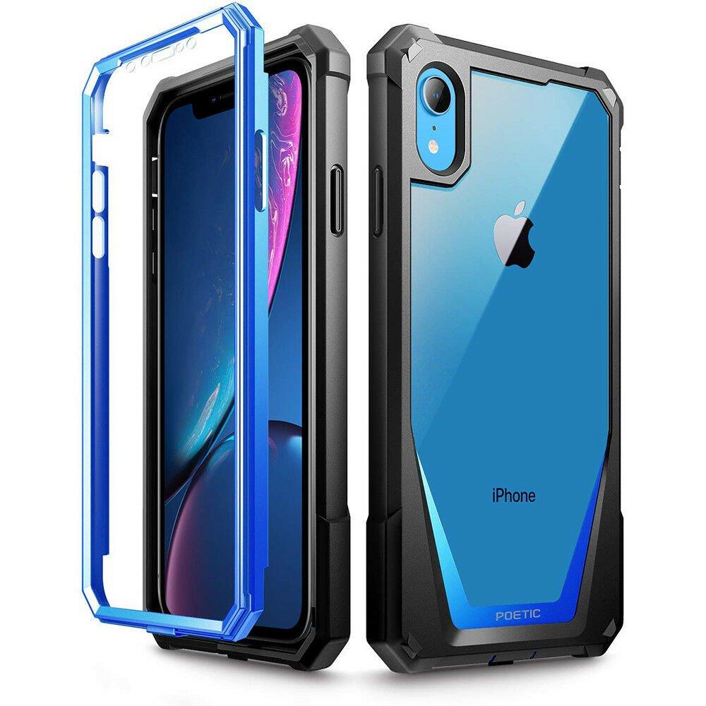 HOT SELLER IPhone XR Case Poetic Full-Body Hybrid Bumper Protector Cover BLUE