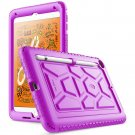 HOT IPad Mini 5 Tablet Ultra Thick Silicone Cover Case Made with Kid-friendly PURPLE