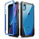 HOT SELLER Apple iPhone XR Case | Poetic Full-Body Hybrid Bumper Protector Cover Blue