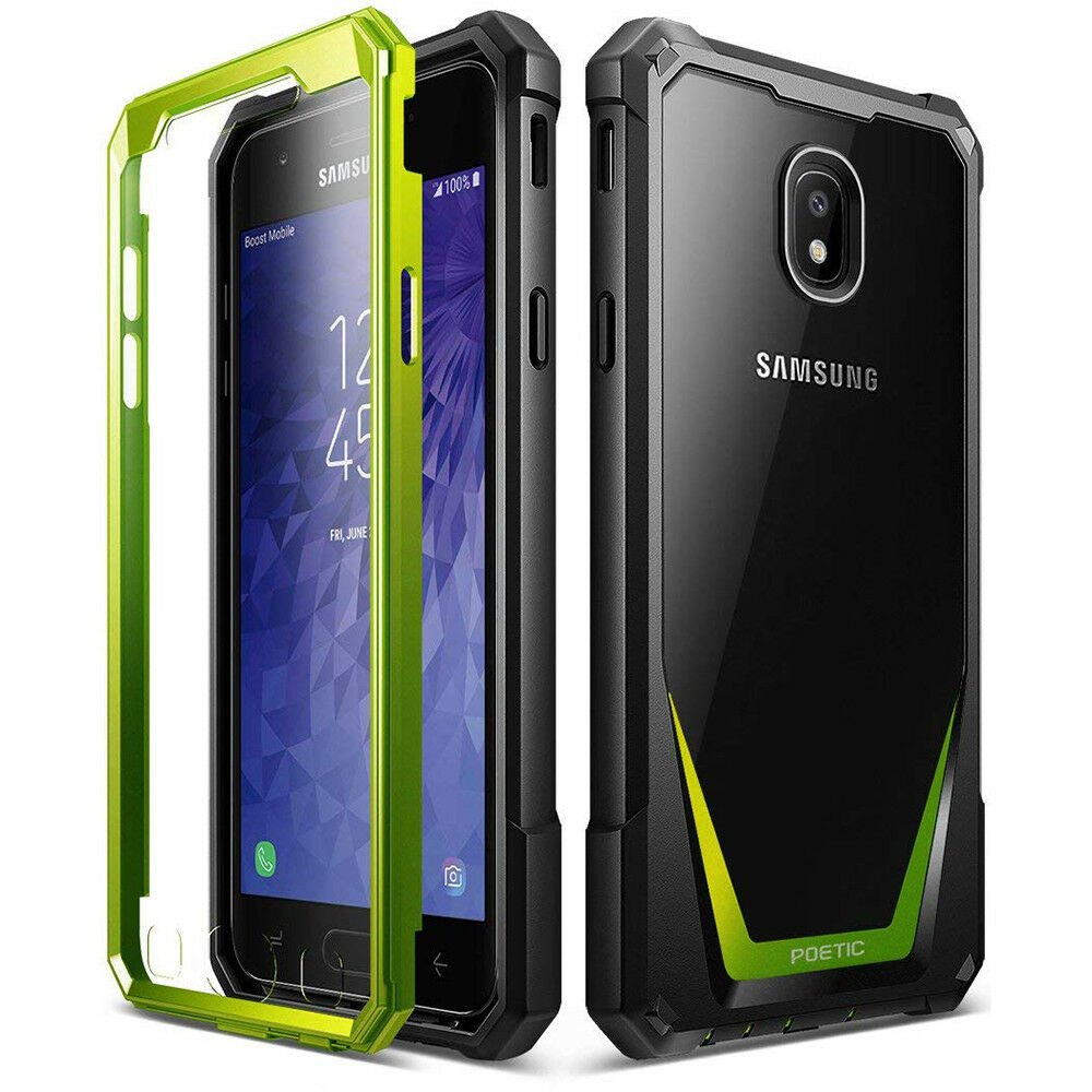HOT SELLER Samsung Galaxy J3 2018 Case   Poetic Full-Body Hybrid Bumper Protector Cover #Green