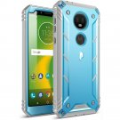 HOT SELLER Motorola Moto E5 Plus Case | Poetic Rugged Shockproof Dual Layer Cover Blue
