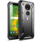 HOT SELLER Motorola Moto E5 Plus Case   Poetic Rugged Shockproof Dual Layer Cover Black