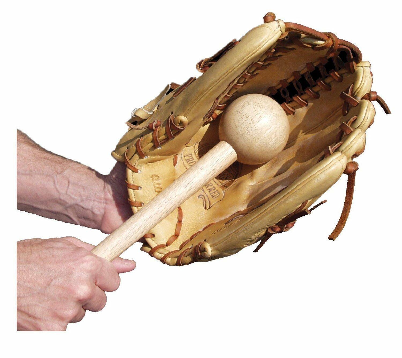 BEST SELLER Unique Sports Hot Glove Wood Break In Bat Mallet Baseball Softball Mitt 113