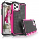 """UNA SELLER Hot Pink Shockproof Cover For Apple iPhone 11 Pro 5.8"""" 2019 Phone Case"""