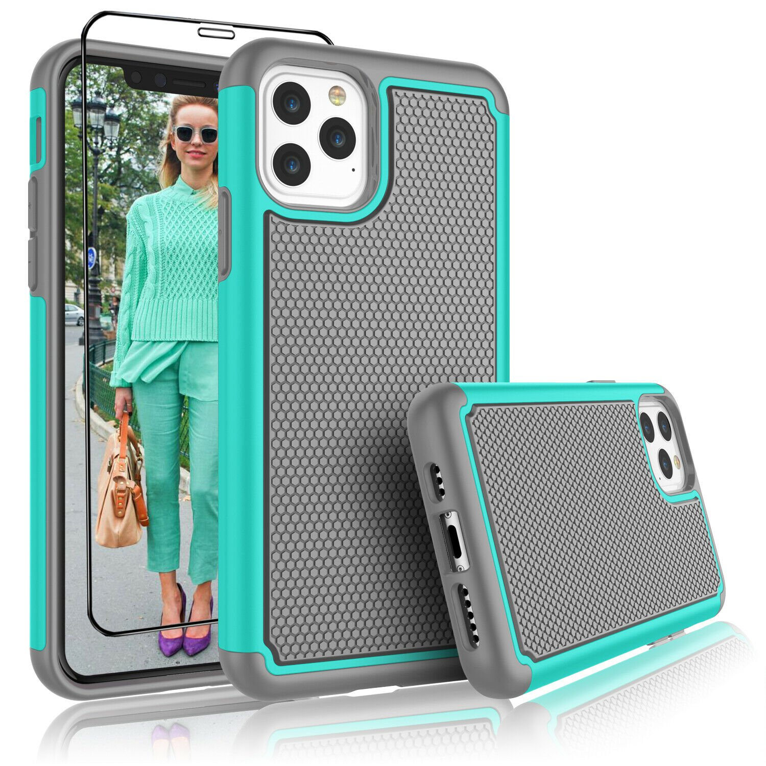 """UNA SELLER Turquoise Shockproof Cover For Apple iPhone 11 Pro Max 6.5"""" 2019 Phone Case"""