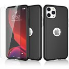 UNA SELLER For iPhone 11 360° Case Cover with Tempered Glass Screen Protector #Black