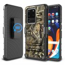 UNA SELLER For Samsung Galaxy S20 Case Clip Holster Stand Cover Camouflage + Screen Protector