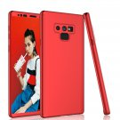 UNA SELLER For Galaxy Note 9 Hybrid 360° Full Protector Hard Slim Tempered Glass Case Cover Red