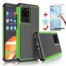 "UNA SELLER For Samsung Galaxy S20 Ultra 6.9"" 2020 Shockproof Case Cover + Screen Protector #Green"