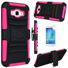 UNA SELLER Shockproof Case Kickstand Belt Clip Holster Cover For Samsung Galaxy A8 2015 #Hot Pink