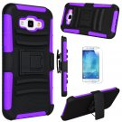 UNA SELLER Shockproof Case Kickstand Belt Clip Holster Cover For Samsung Galaxy A8 2015 #Purple