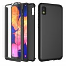 UNA SELLER For Samsung Galaxy A10e Slim Case Cover with Tempered Glass Screen Protector #Black