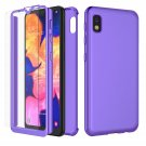UNA SELLER For Samsung Galaxy A20 Slim Case Cover with Tempered Glass Screen Protector #Purple