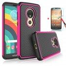 UNA SELLER Motorola Moto E5 Go Phone Case Cover Only Durable 2 layers design #Rose