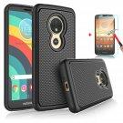 UNA SELLER Motorola Moto E5 Play/Cruise Phone Case Cover Only Durable 2 layers design #Black