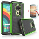 UNA SELLER Motorola Moto E5 Play/Cruise Phone Case Cover Only Durable 2 layers design #Green
