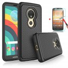 UNA SELLER Motorola Moto E5 Plus/Supra Phone Case Cover Only Durable 2 layers design #Black