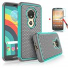 UNA SELLER Motorola Moto E5 Plus/Supra Phone Case Cover Only Durable 2 layers design #Teal