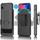 UNA SELLER Iphone X/ XS Holster Shockproof Case with Kickstand Belt Clip Cover
