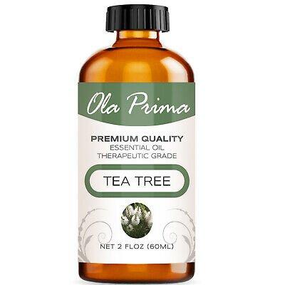 UNA SELLER 2oz Tea Tree Essential Oil - Multiple Sizes - 100% Pure - Amber Bottle