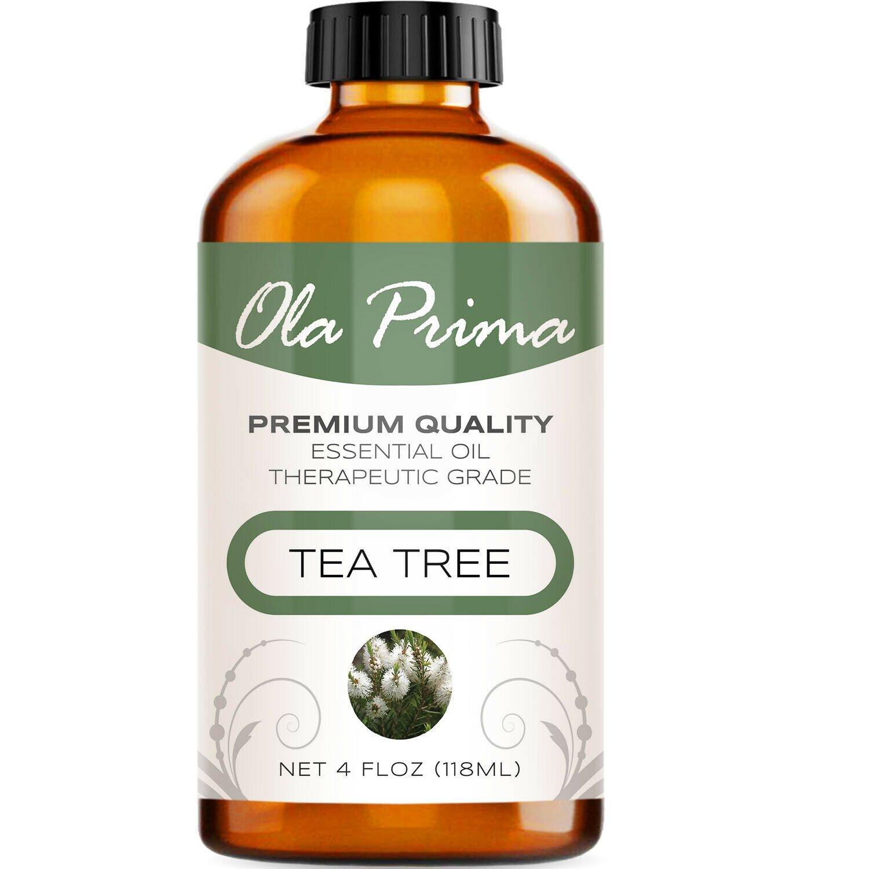 UNA SELLER 4oz Tea Tree Essential Oil - Multiple Sizes - 100% Pure - Amber Bottle