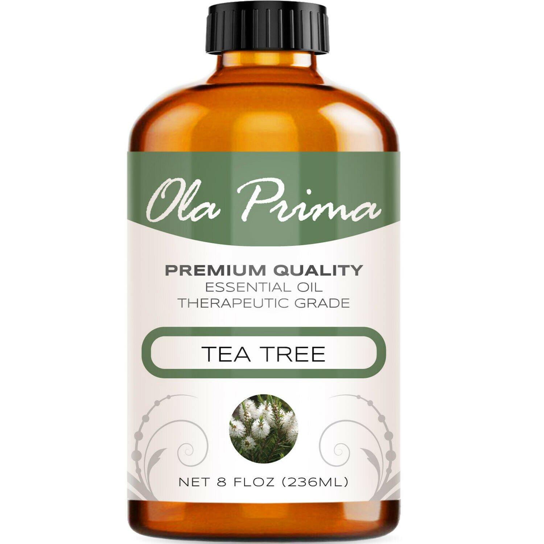 UNA SELLER 8oz Tea Tree Essential Oil - Multiple Sizes - 100% Pure - Amber Bottle