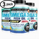 UNA SELLER Ultra Pure Omega 3 Fish Oil 3000mg Potent, Joint Pain Relief - XL 120ct (3 PACK)