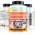 UNA SELLER Glucosamine Chondroitin with COLLAGEN TYPE II 2 MSM Turmeric Ginger 3000MG 90ct