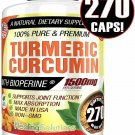 UNA SELLER Turmeric Curcumin 1500 mg Ultra High Absorption Extra Strength 270 Capsules