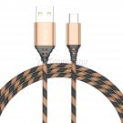 2PCS Pink USB-C Type-C Nylon Braided Rope Data Sync Charger Charging Cable Cord 3 FT