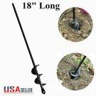 Planter Auger Spiral Hole Drill Bit 18'' Garden Planting Yard Soil Earth Bulb