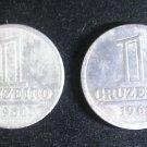 Lot 2 Coin Brazil 1 cruzeiro 1960 1961