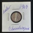 Coin Czechoslovakia 1 Haleru 1962