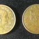 Lot 2 Coin Mexico 5 Centavos 1963 1968
