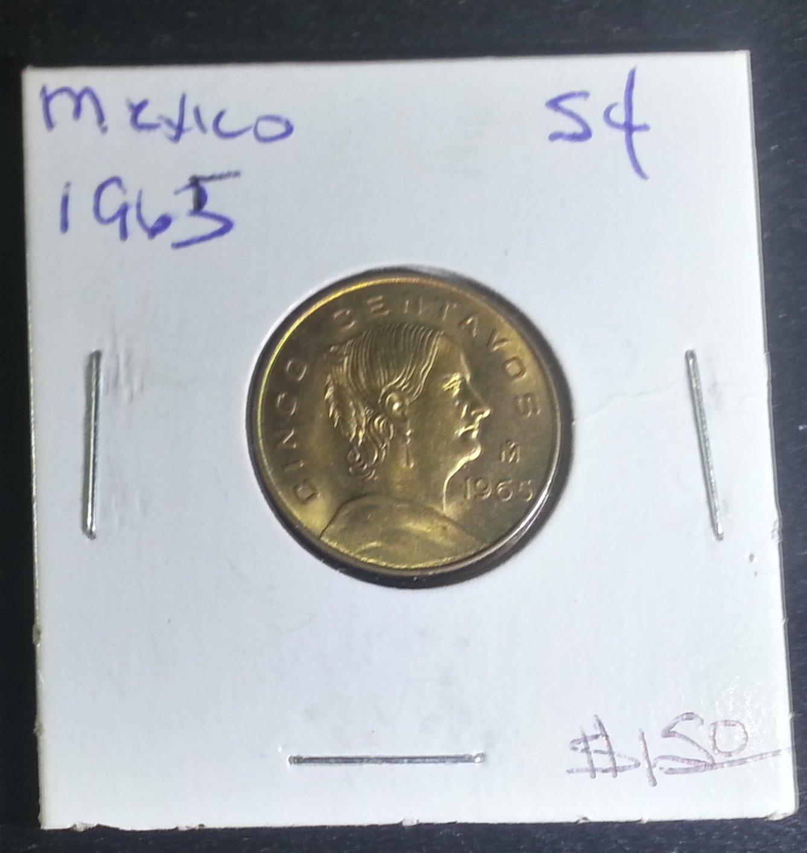 Coin Mexico 5 Centavos 1965