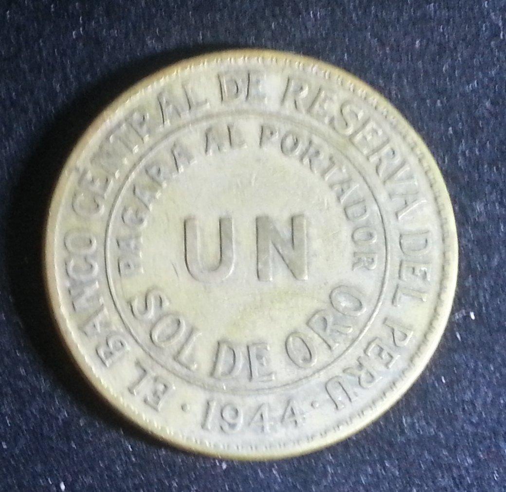 Coin Peru 1 Sol de Oro 1944