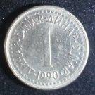 Coin Yugoslavia 1 Dinar 1990