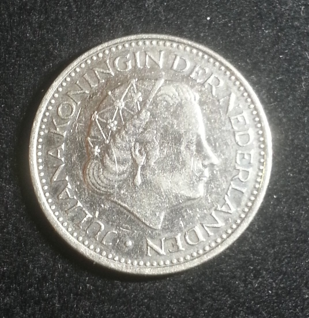 Coin Netherlands 1 Gulden 1971