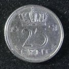 Coin Netherlands 25 Cent 1951