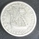 Coin Portugal 2 1/2 Escudos 1966