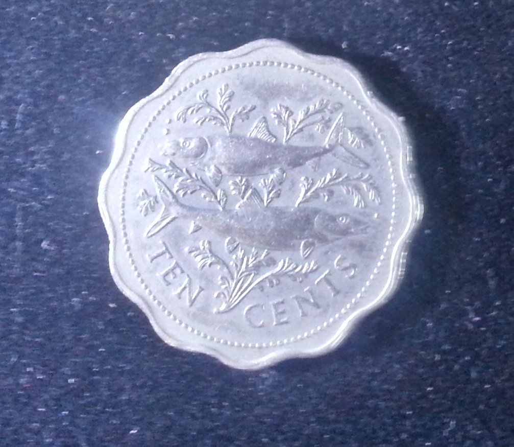 Coin Bahamas 10 Cent 1982