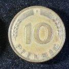 Coin Germany 10 Pfennig 1949 F