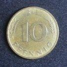 Coin Germany 10 Pfennig 1988 J