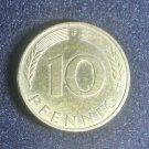 Coin Germany 10 Pfennig 1993 F