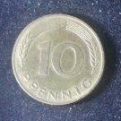 Coin Germany 10 Pfennig 1990 F
